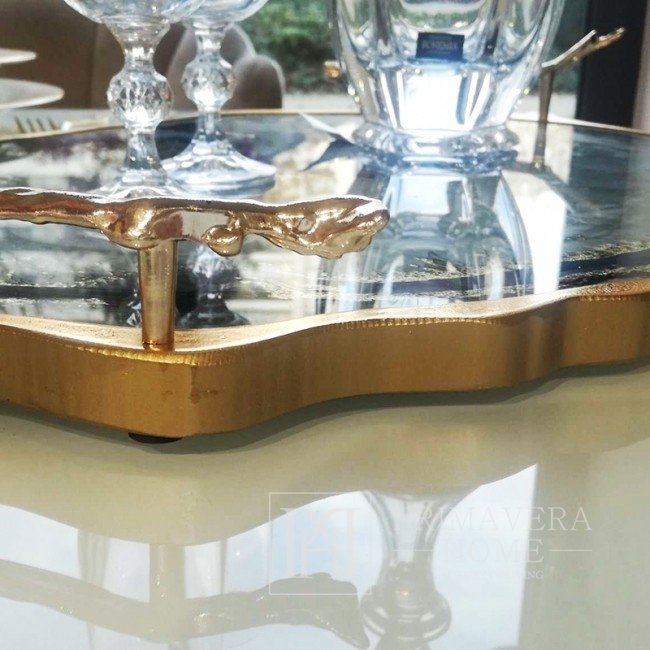 Exclusive LUXURY gold tray OUTLET