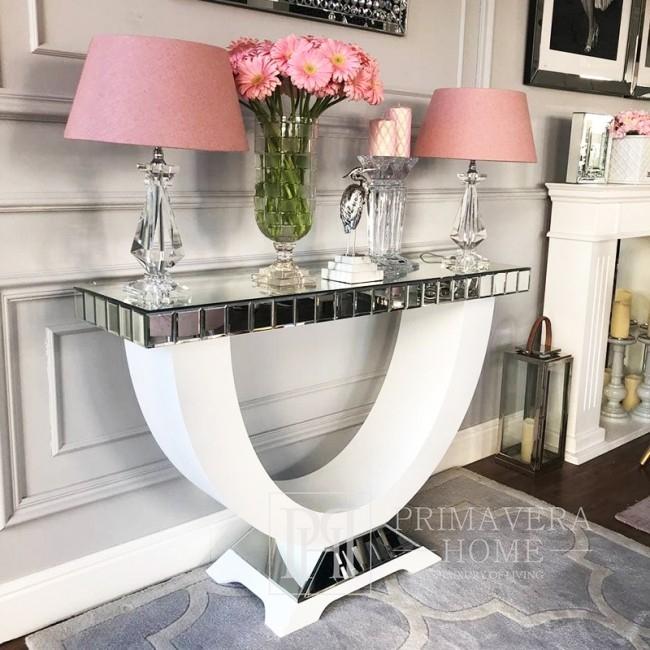 Glamour Spiegelkonsole für weißen Schlafzimmerflur New York MICHELLE