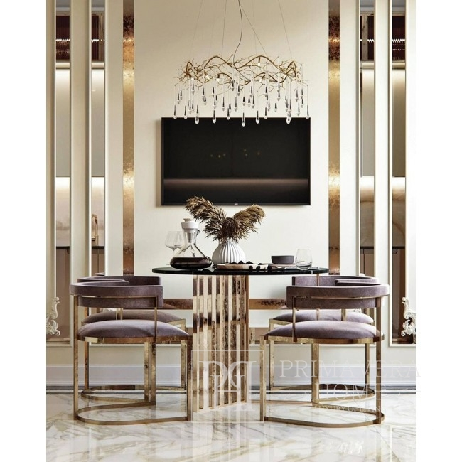 MARCO golden glamor chair for the living room and dining room, beige