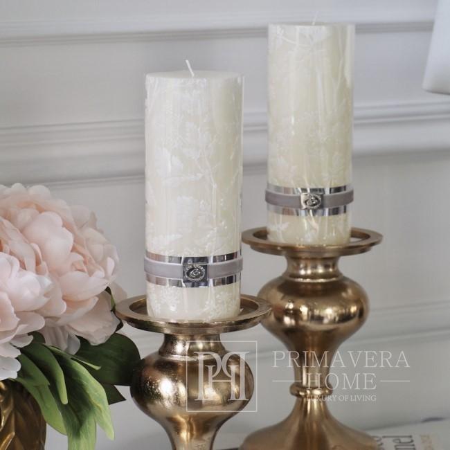 LENE BJERRE Kerze 7,5x20cm weiß