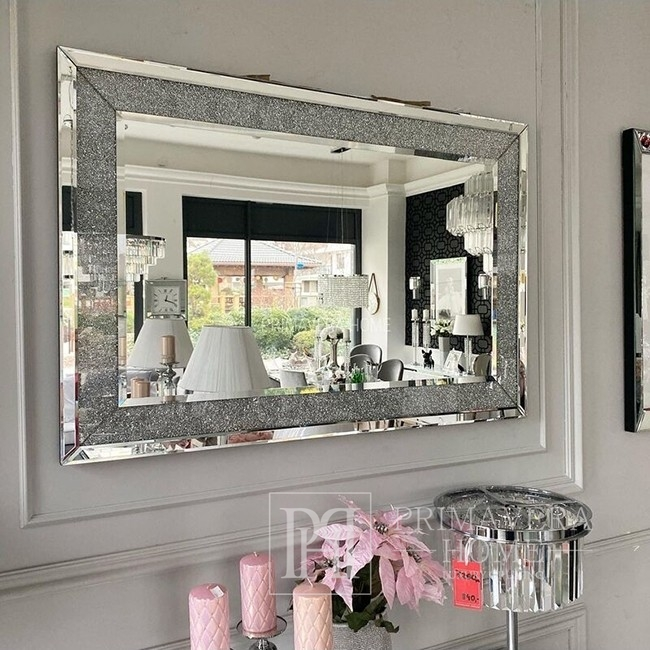 Glamour mirror PAOLA New York style 120x80 silver