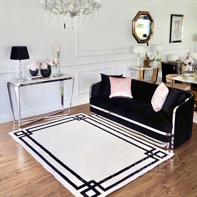Nowojorski dywan w stylu glamour czarno biały CLASSIC WHITE