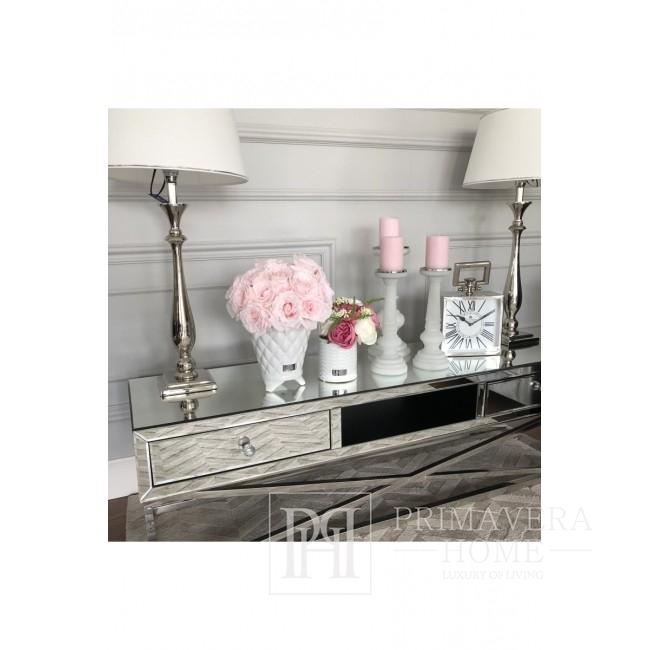 Mirror TV cabinet on metal legs New York glamor CHICAGO RTV