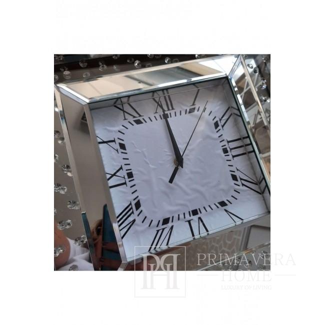 Zegar ścienny lustrzany MARTIN S kwadratowy 46x46x4  cm OUTLET