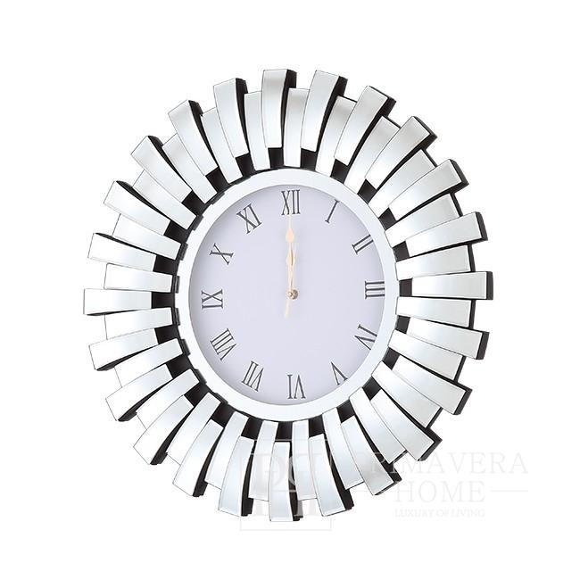 Round wall clock ENEA glamor 60cm silver