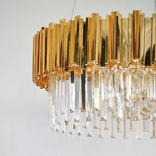 New York glamour crystal chandelier EMPIRE GOLD M