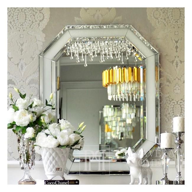 Ästhetischer Spiegel RARE SILBER Glamour 100x80 OUTLET