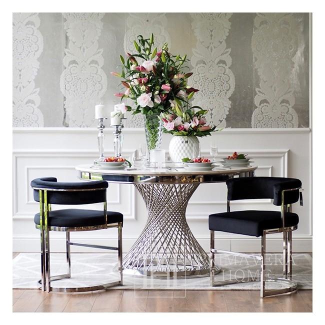 Silver Glamour Chair für Wohn- und Esszimmer schwarz MARCO