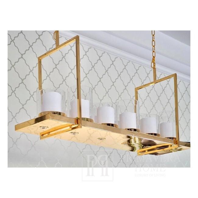Nowoczesny lampa złota wisząca żyrandol glamour, rustykalny MODERN