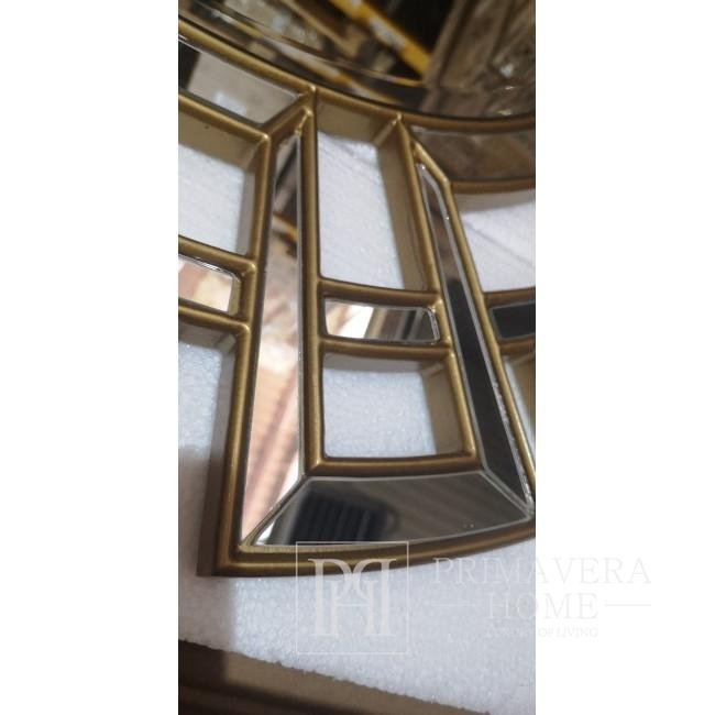 Goldener Glamour-Wandspiegel ELISE OUTLET