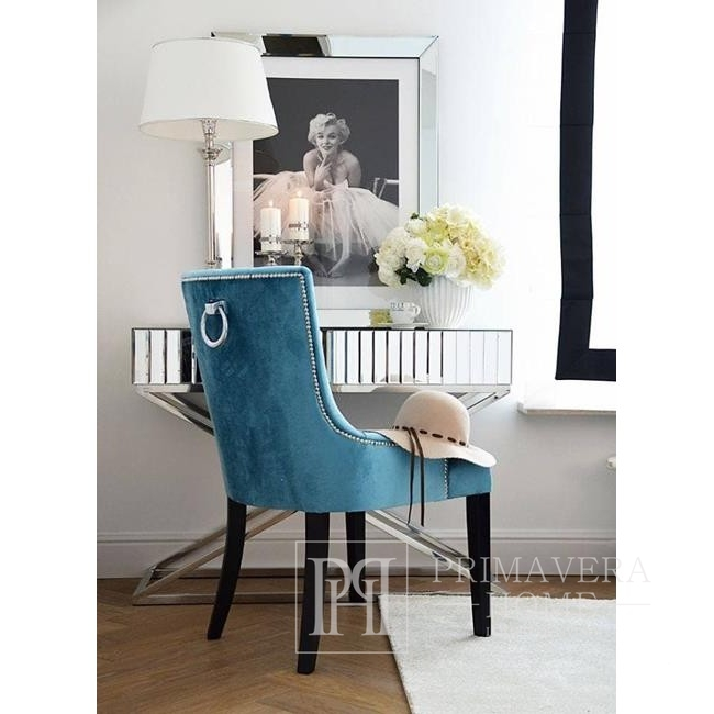 Glamour chair TIFFANY with knockout, modern 54x46xh97