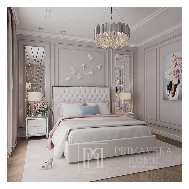 Glamour Kristall-Kronleuchter EMPIRE SILBER M