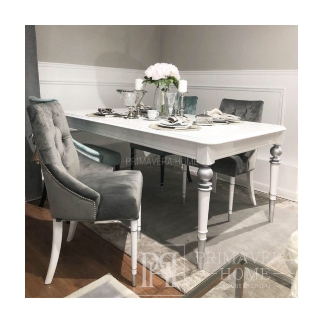 Wooden glamour table for dining room QUEEN