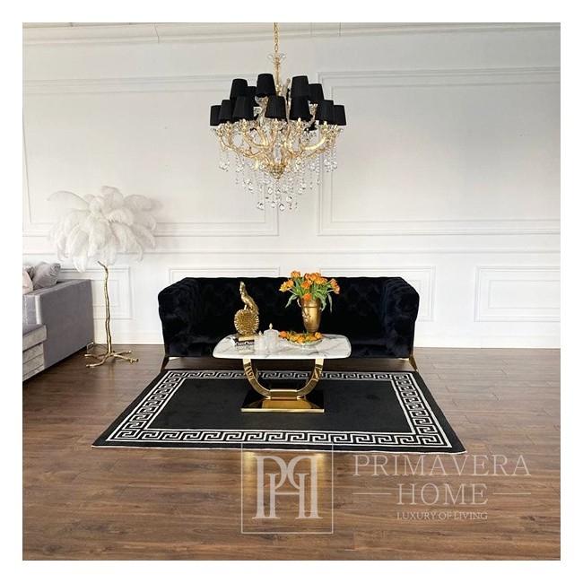Żyrandol kryształowy MARIA TERESA M lampa wisząca glamour styl nowojorski 93x91 złoty