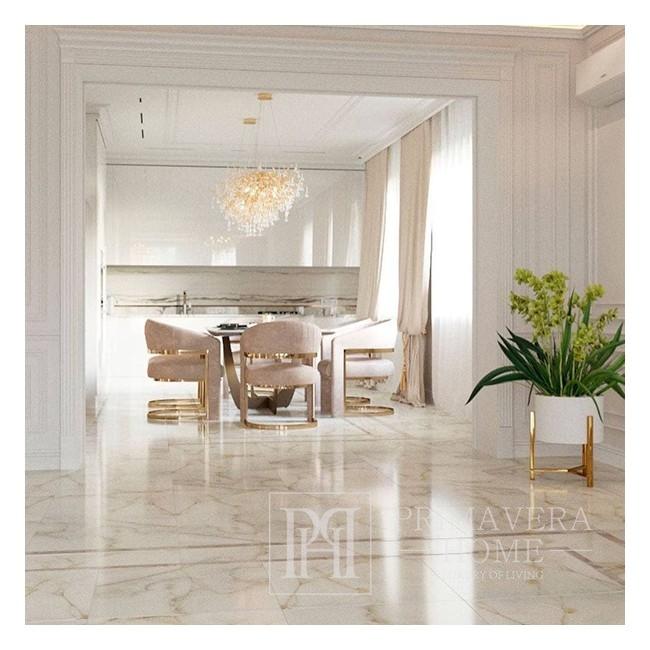 Żyrandol złoty lampa wisząca sufitowa glamour nowoczesna RAIN M GOLD