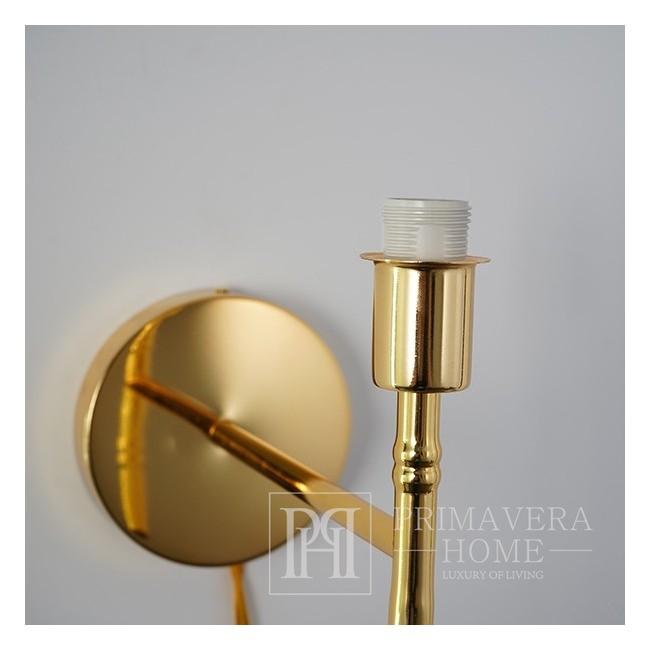 Wandleuchte gold, moderne Glamour-Wandleuchte, gold ANGELO K