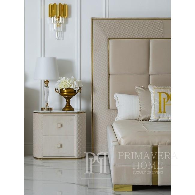 Kinkiet złoty lampa ścienna kryształowy glamour nowoczesny do salonu EMPIRE GOLD