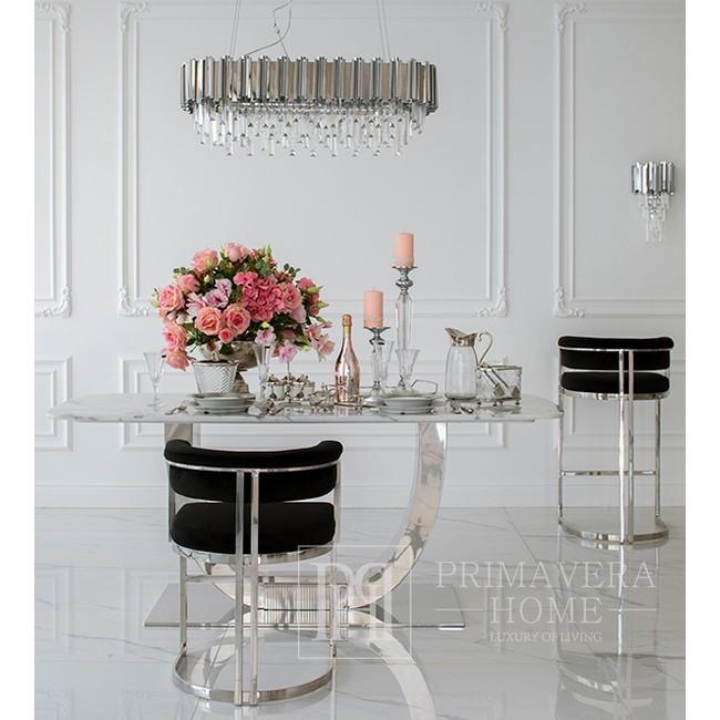 Silberne Wandleuchte Kristall Glamour modern für das Wohnzimmer EMPIRE SILVER