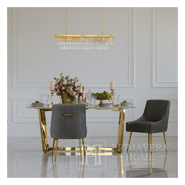 PALOMA Gold Esszimmerstuhl Grau
