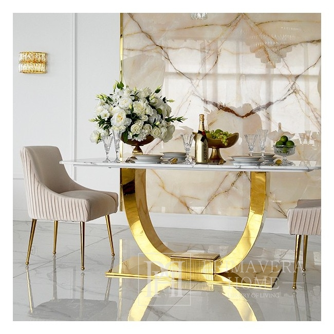 Kinkiet kryształowy MONACO lampa ścienna glamour nowojorski 30x18x21 złoty