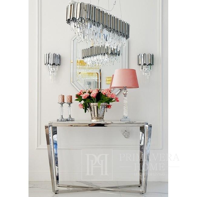 New Yorker Glamour-Kristall-Kronleuchter EMPIRE SILBER L