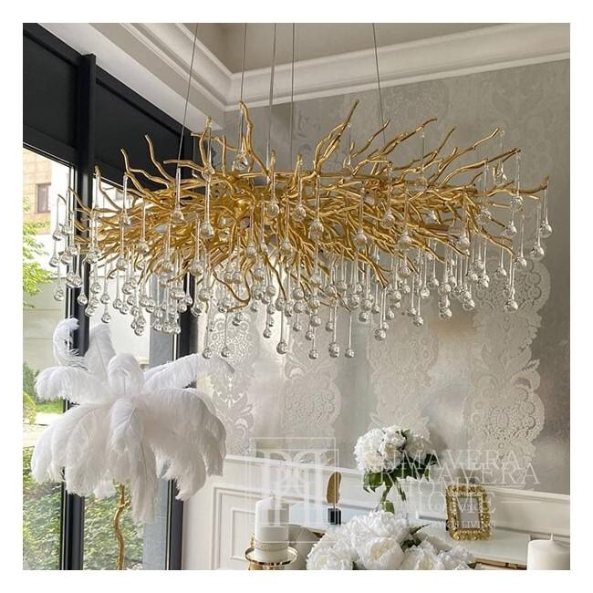 Żyrandol złoty lampa wisząca sufitowa glamour nowoczesna RAIN L GOLD